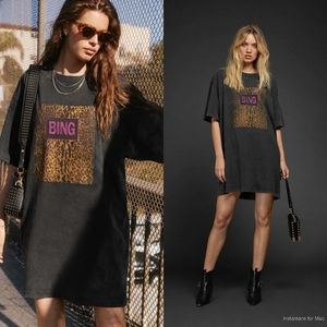 Anine Bing Harley Tee Dress, Sz XS